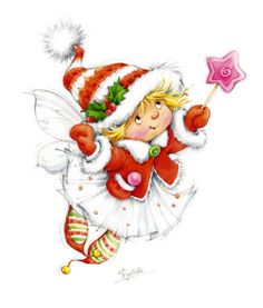 Beautiful kids illustration for the holidays by Fedotowa Christmas Rock, Christmas Fairy, Christmas Scenes, Christmas Clipart, Christmas Images, Christmas Printables, Christmas Angels, Vintage Christmas, Christmas Time