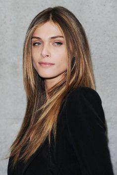 Elisa Sednaoui long straight hairstyles