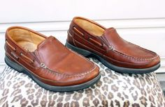 a8612abe350 Mephisto Spinnaker Boating Deck Shoes Slip-On Loafers Brown Men s Size
