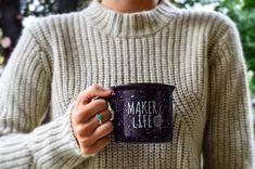 MAKER LIFE camper mug // 14 oz. camper mug // maker mug //