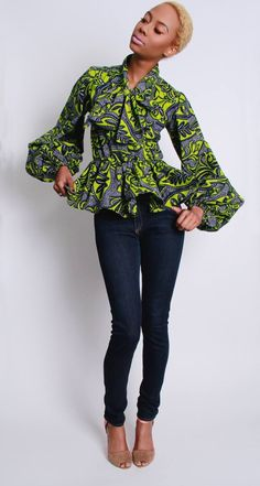Couldn't resist sharing this gorgeous African inspired blouse.