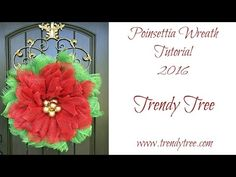 Poinsettia Wreath Tutorial by Trendy Tree - YouTube