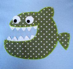 Piranha onesie by SweetPeaskidskrafts on Etsy, $25.00