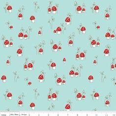 Tasha Noel - Little Red Riding Hood - Mushrooms in Aqua