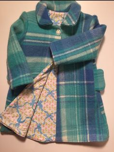 Wool Coat, Plaid Scarf, Pure Products, The Originals, Fabric, Baby, Handmade, Jackets, Vintage