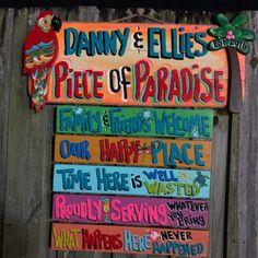 Personalized Tiki Sign Tropical Welcome Paradise Pool Patio Tiki Bar Signs, Tiki Bar Decor, Pool Signs, Beach Signs, Pool Rules Sign, Paradise Pools, Tropical Paradise, Tropical Patio, Tropical Beaches
