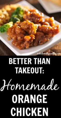 BETTER than Takeout: Homemade Orange Chicken | Nutritionally Wealthy
