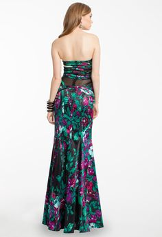 #strapless #floral #multicolor #mermaiddress #dresses #camillelavie
