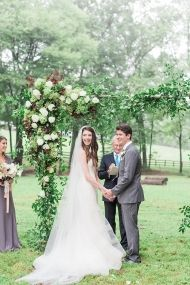"""You'll be hard-pressed to find a prettier ceremony spot than what's tucked inside this rustic Fall wedding. With a lush, floral arch crafted bySweet Root Villageand the wilds of Virginia as the backdrop, this Bride and Groom said """"I Do"""" in the most stunning of ways. Pore through the pretty images fromJulie Paisley Photographyas well […]"""