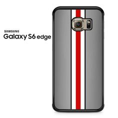 Grey Black White Red Line Samsung Galaxy S6 Edge Case