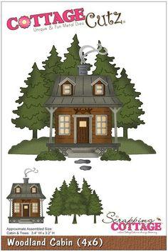 Cottage Cutz - 4x6 Dies - Woodland Cabin,$24.95