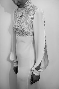 The Lane X Costarellos - New York Bridal Week Spring Report Wedding Dresses With Straps, Wedding Dress Sleeves, Bridal Dresses, One Shoulder Wedding Dress, Minimalist Wedding Dresses, Wedding Dress Accessories, Elegant Bride, Couture Details, Creations