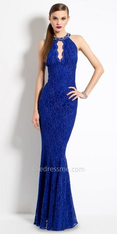 Beaded Cleo Collar Lace Evening Dress By Camille La Vie #edressme