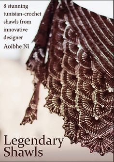 E-book - 8 stunning tunisian-crochet shawls + 1 slouchy hat - 20 EUR