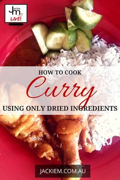 In this broadcast I showed how to shop for and use dried ingredients for curry recipes. General rule of thumb is to halve the dried ingredients. Malaysian Recipes, Malaysian Food, Curry Recipes, Asian Recipes, Asian Kitchen, Learn To Cook, Curries, Places To Eat, Singapore