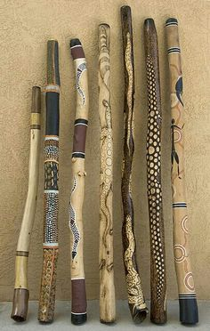Wooden totem sticks