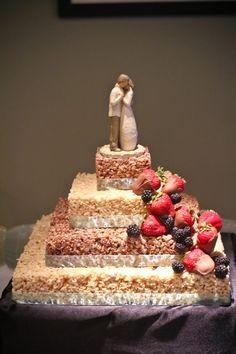 My rice krispie wedding cake that my mom made me... :)