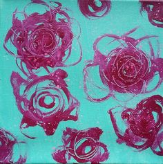 This is a vibrant rose painting , I used acrylic paint and acrylic inks. It is painted on a canvas sized 20cm x 20cm x 3.5cm depth. I ship this piece as free postage worldwide.