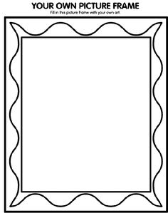 Picture Frame Coloring Page Lovely Printable Picture Frames Templates Your Own Picture Frame Coloring Page Printable Frames, Printable Pictures, Templates Printable Free, Printables, Free Coloring Pages, Printable Coloring, Coloring Books, Picture Frame Template, Paper Picture Frames