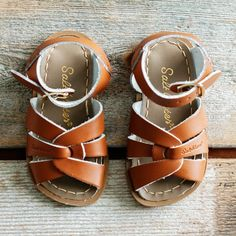 Image of Kids Tan Saltwater Sandals