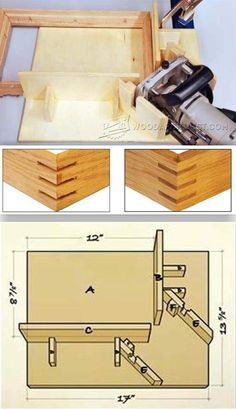 Biscuit Joiner Spline Jig - Joinery Tips, Jigs and Techniques | WoodArchivist.com