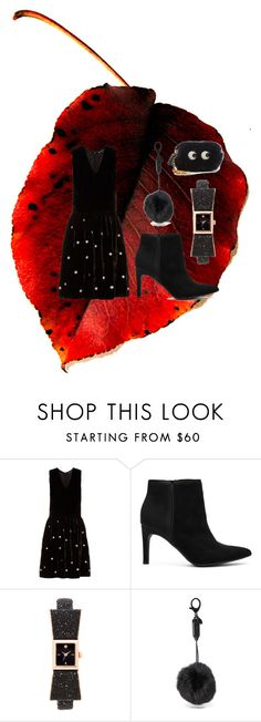 """black-in-redleaf"" by racheal-taylor ❤ liked on Polyvore featuring Jupe By Jackie, Circus by Sam Edelman, Kate Spade, Rebecca Minkoff and Anya Hindmarch"