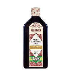 Rewelacyjny olej z pestek dyni - wygodna butelka, wspaniały aromat i smak. Doskonały olej do stosowania na zimno, ale i na ciepło. Sprawdź! Sauce Bottle, Vodka Bottle, Bottle Opener, Barware, Oil, Arnica Montana, Butter, Tumbler