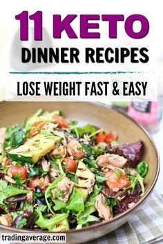 Here are some quick and easy keto recipes for your low-carb diet! The keto diet may seem restrictive, but there are so many delicious low-carb recipes out there. Here are 11 of my favorites! #KetoRecipes #LowCarb #KetoDiet