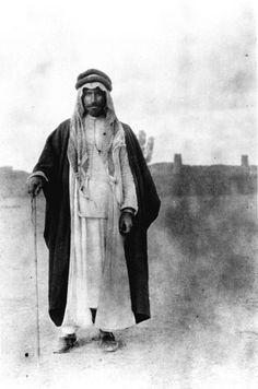 Hail, Unidentified Arab man in Gertrude Bell's caravan, February - March 1914, Gertrude Bell Archive, Newcastle University