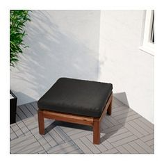 IKEA - HÅLLÖ, Seat pad, outdoor, , The cover is easy to keep clean because it is removable and machine washable.The cushion has a longer life because it can be turned over and used on both sides.
