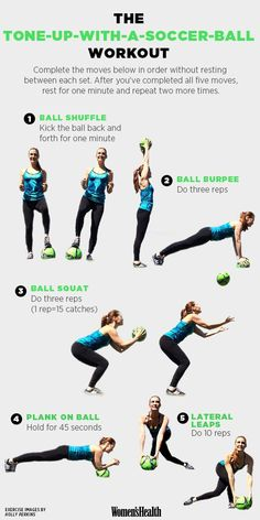 How to Tone Up Using Nothing but a Soccer Ball http://www.womenshealthmag.com/fitness/soccer-ball-workout