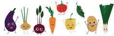 """Check out my @Behance project: """"Happy veggies for healthy kids"""" https://www.behance.net/gallery/51123349/Happy-veggies-for-healthy-kids"""