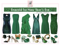 emerald green new year's eve dresses