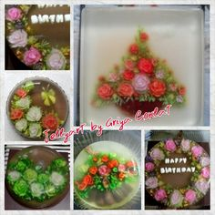 #gelatinadecoradas #jellyart #roses #flower