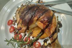 Mediterrán csirkecomb vele sült sütőtökkel, pirított dióval - Motoros konyhája Feta, Pork, Kale Stir Fry, Pigs