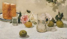 Adolphe Valette 1912 Still Life, Fruit oil on canvas 44 x 75 cm Stockport Heritage Services UK