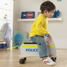 Zoomster Police Car - available direct from KidsPlayKit with Free Next Day Delivery! Come take a look at our wide range of UK made wooden toys!