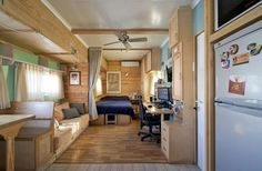 Every inch of this tiny home looks planned, and it's all beautifully designed to give its owner freedom. via Joe's Truck House.