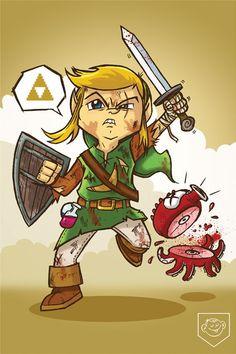 Link, The Legend of Zelda by Dennis Salvatier.