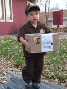 UPS Delivery Man Kids Halloween Costume