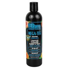"Mega-Tek Rebuilder Equine (Hoof & Coat) - 16 oz.  Amazing results! Accelerates hair regrowth on bare spots caused by equipment and blanket rubs, skin conditions or injuries. Great for lengthening manes & tales. Makes hair stronger reducing breakage. Makes hoofs grow from 10% to 50% faster and 30% stronger. Sand cracks and chipping is reduced, quarter cracks grow out faster, shoes hold better. Fantastic for Shelly footed horses.  ""Michael Plumbs Horse Journal"" product of the year.  - See…"