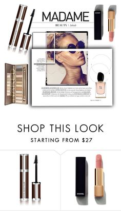 """madame"" by luxthrill ❤ liked on Polyvore featuring beauty, Givenchy, Chanel, Armani Beauty and Beauty"