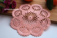 Handmade crochet peach doily measurement diameter 19 cm 7 this doily was made in a pet free and smoke free environment ready to ship this doily is a perfect addition to your table room decor or can be a really nice Crochet Snowflake Pattern, Crochet Doily Patterns, Crochet Snowflakes, Crochet Squares, Thread Crochet, Filet Crochet, Crochet Designs, Crochet Doilies, Crochet Flowers