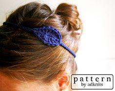 Crochet Headband Pattern, Leaf Headband, Digital PDF. $2.00, via Etsy.