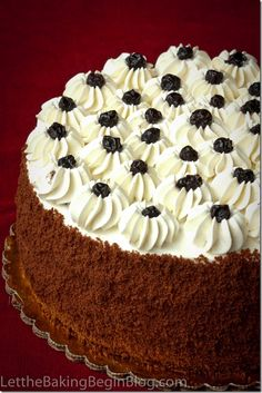 Chocolate plum cake with Luscious Whipped Cream Frosting | Russian cakes, desserts, recipes, foods