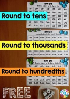 Superstars Which Are Helping Individuals Overseas Want A Free Rounding Game To Use In Your Math Centers Tomorrow? Figure out How To Play This Differentiated Roll It Rounding Game. You'll Even Get Our Free Game Boards To Use Math Resources, Math Activities, Math Games, Math Math, Maths, Math Stations, Math Centers, Bingo, Math Round