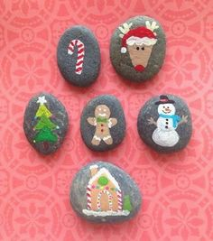 Rock Painting Patterns, Rock Painting Ideas Easy, Rock Painting Designs, Stone Crafts, Rock Crafts, Arts And Crafts, Pebble Painting, Pebble Art, Stone Painting