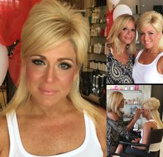 The beautiful Theresa Caputo getting her makeup done by Gabrielle! #Longislandmedium #theresacaputo #makeupbygabrielle #idsalon #makeup #longisland #mua