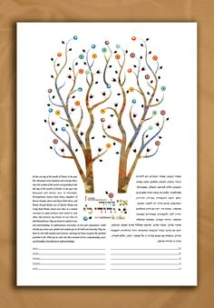 Ketubah customized print. Tree of life Intertwined This modern double tree of life design includes the Song of Songs verse I am my beloveds and my beloved is mine. This design can be customized with the text of your choice (Hebrew and English). Orthodox (Hebrew only) Conservative with modern English Reform Humanistic Interfaith Same sex partners Please feel free to add your own English text at no extra charge. If you require translation, there will be an additional charge starting at $100…