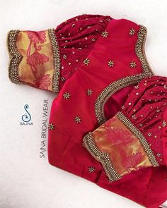 Pattu Saree Blouse Designs To Rock Your Desi Bridal Look Here. - Pattu Saree Blouse Designs To Rock Your Desi Bridal Look Here is the ultimate li - Blouse Back Neck Designs, New Saree Blouse Designs, Cutwork Blouse Designs, Simple Blouse Designs, Stylish Blouse Design, Bridal Blouse Designs, Patch Work Blouse Designs, Designer Blouse Patterns, Kurti Patterns